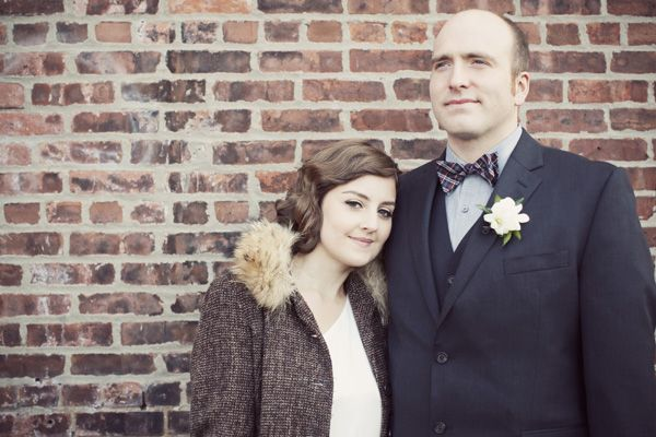 New York bride and groom portrait