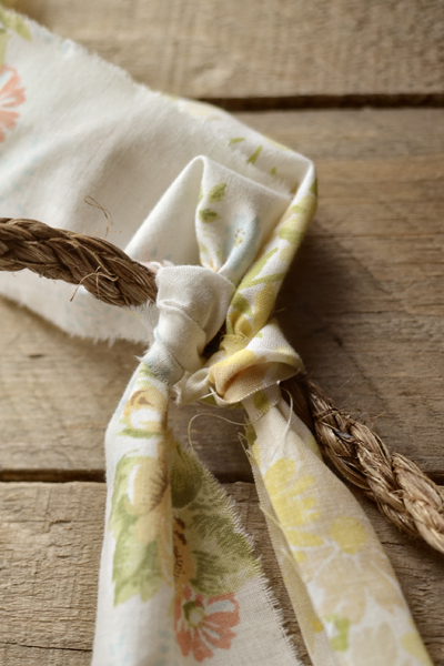torn fabric bunting