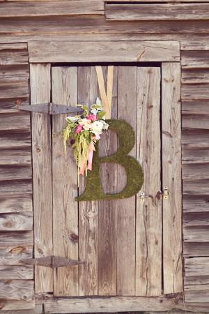 moss wedding monogram