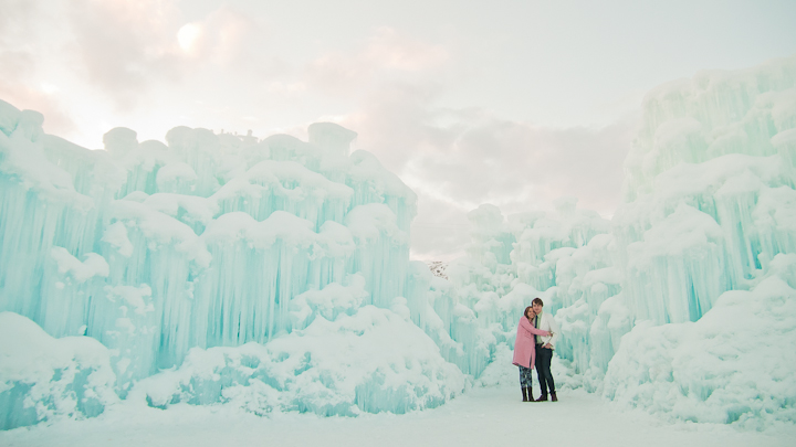 utah engagement- ice castles