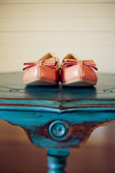 coral wedding flats