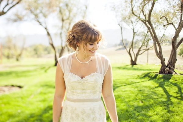 bride portrait on the ranch