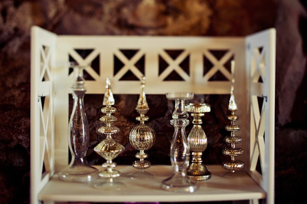 vintage candle holders as wedding decor