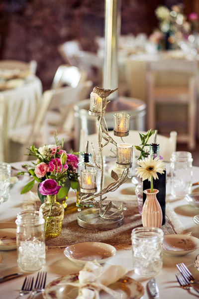 vintage candleholder wedding centerpiece