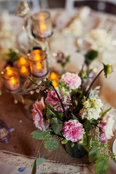 pink carnation centerpiece
