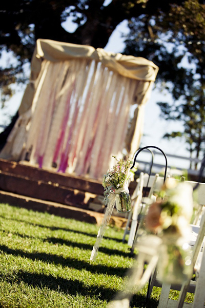 outdoor ranch wedding ceremony site