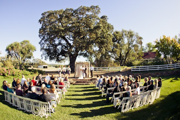 Santa Margarita Ranch outdoor wedding ceremony