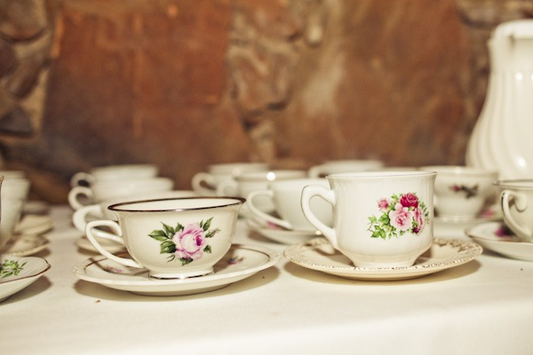 vintage wedding tea cup set