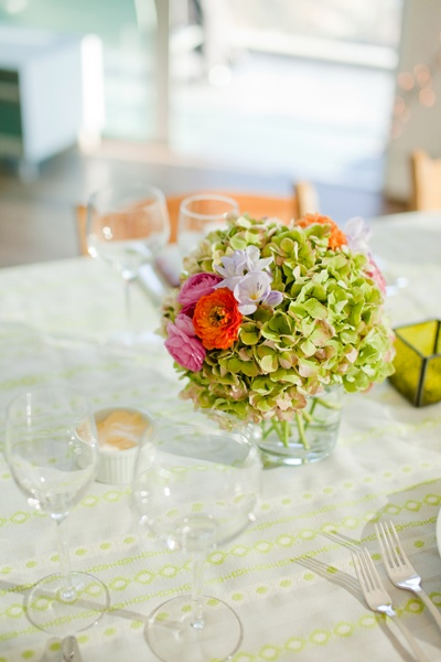 mixed flower wedding centerpiece