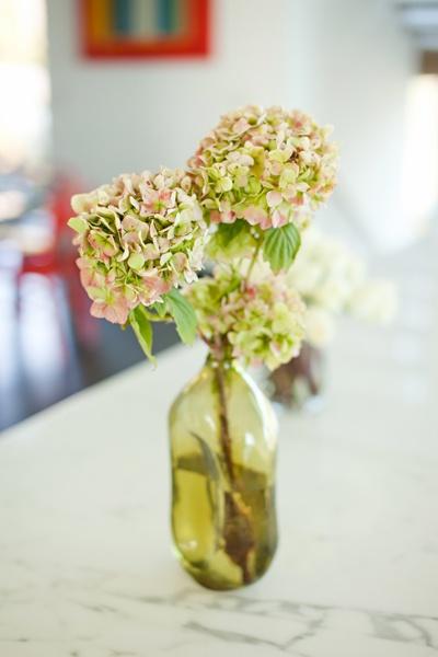 hydrangea flower centerpiece