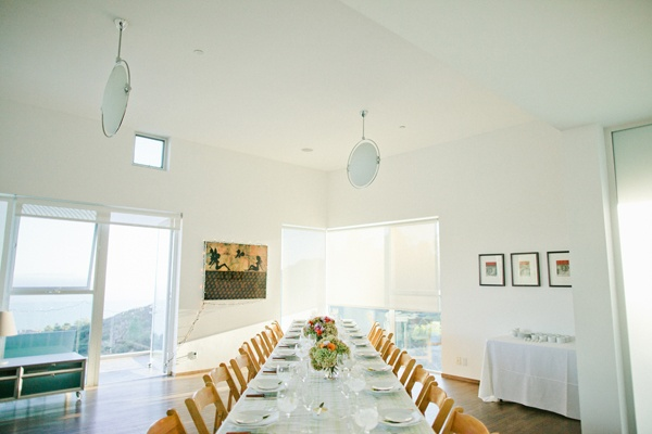 Malibu rental house wedding reception