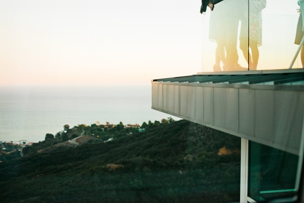 Malibu balcony wedding