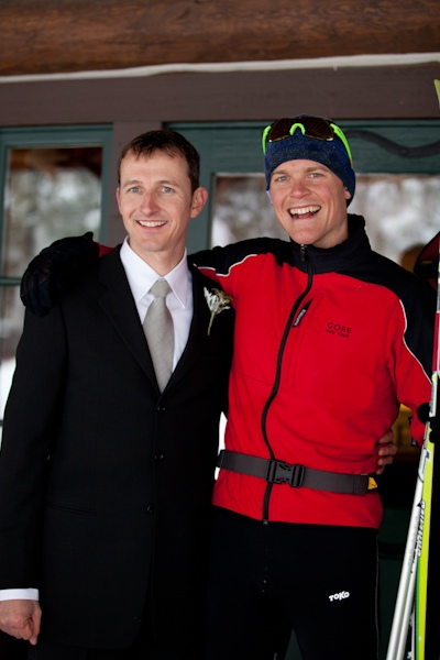 skiing wedding