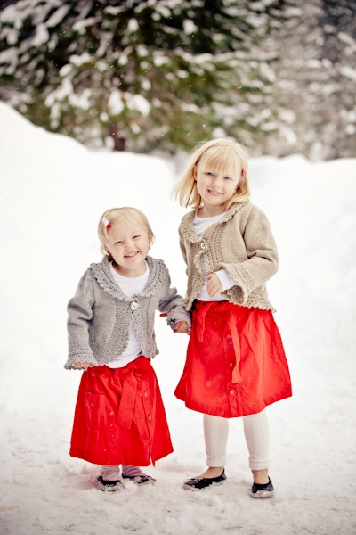 winter flower girls