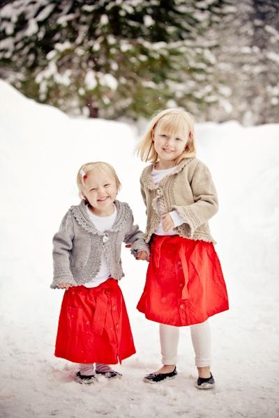 winter flower girls
