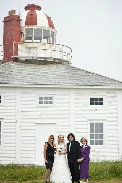 intimate Newfoundland lighthouse wedding