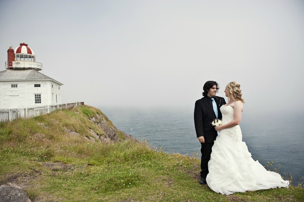 Lighthouse wedding portrait