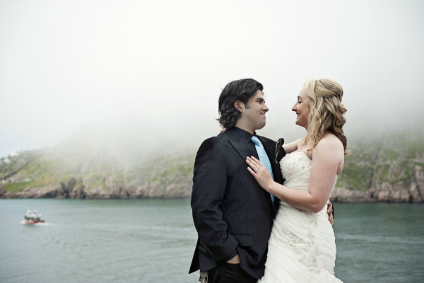 romantic seaside elopement