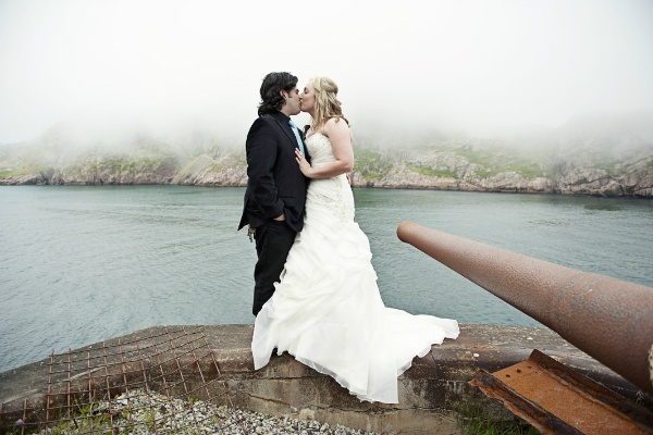 seaside Newfoundland elopement