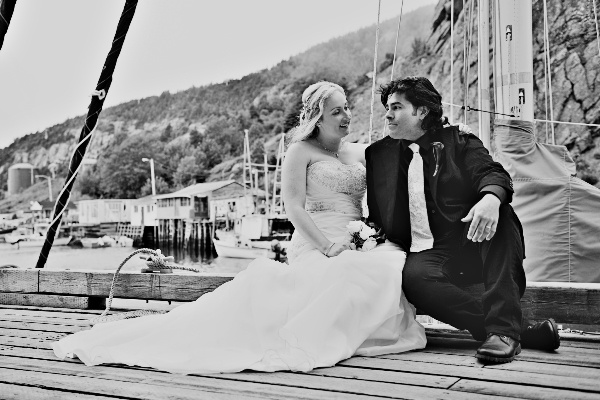 Newfoundland elopement by the sea