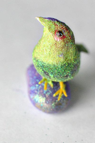 glitter birdie