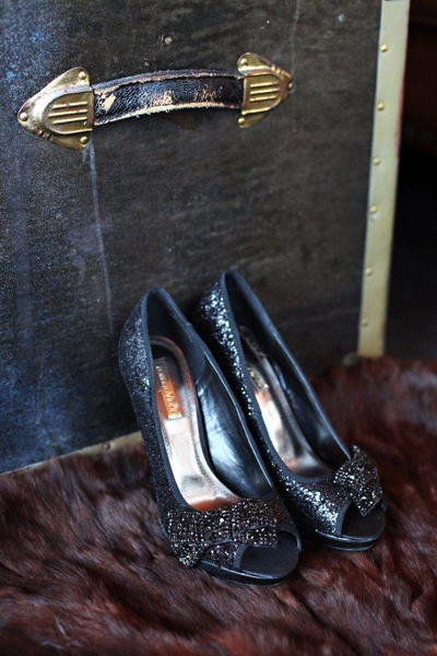 black sparkly wedding shoes