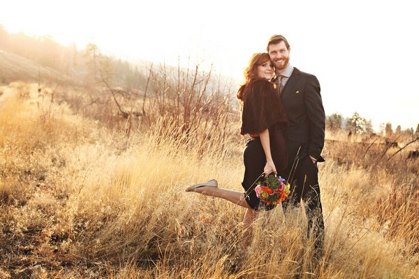 Intimate Boho Winter Wedding
