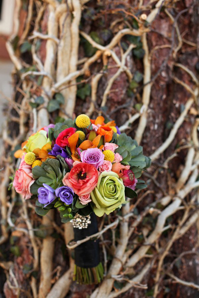 multi-colored wedding bouquet