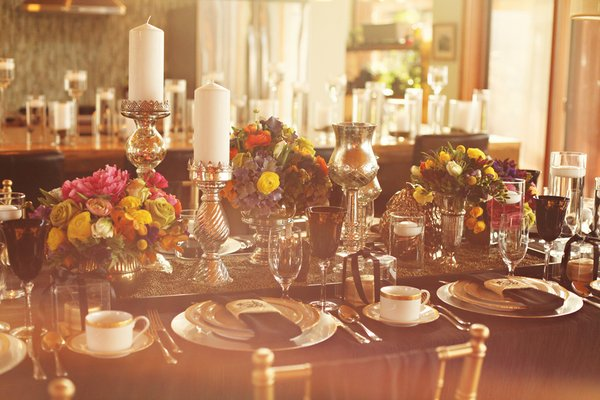 glam boho table setting