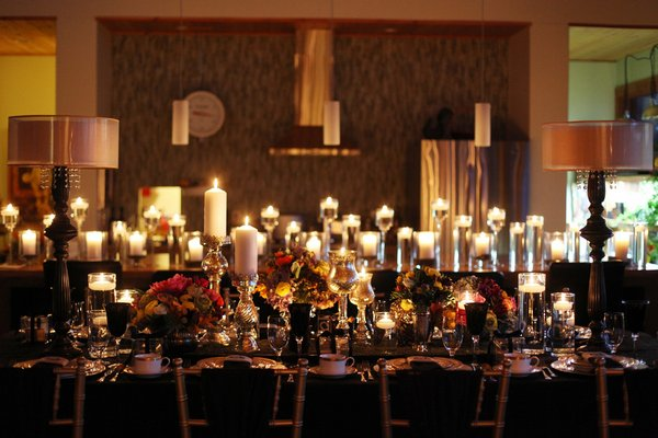romantic bohemian wedding reception
