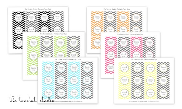 printable chevron tags