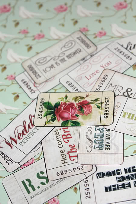 printable wedding tags