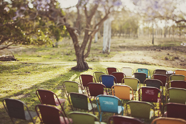 retro wedding chairs
