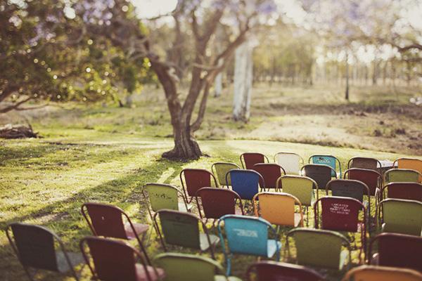 retro wedding chairs