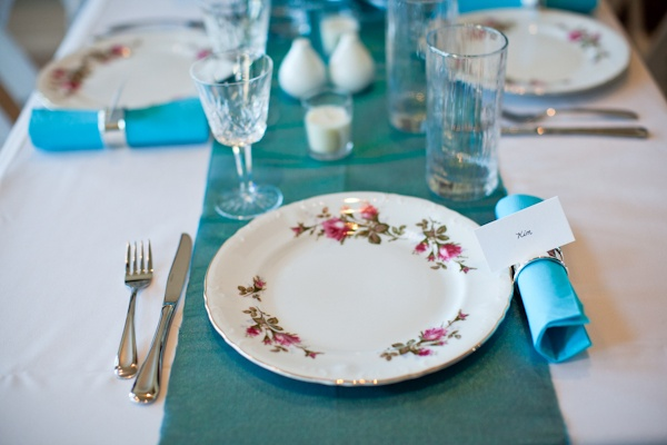 intimate at-home wedding reception