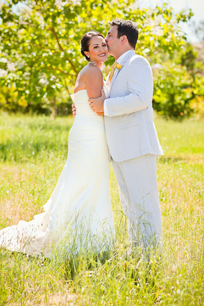 Intimate Wine country wedding
