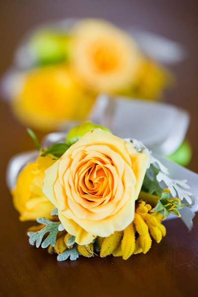 yellow rose boutonnieres
