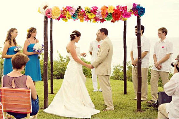 How To Make A Paper Flower Wedding Arch Flowers Healthy
