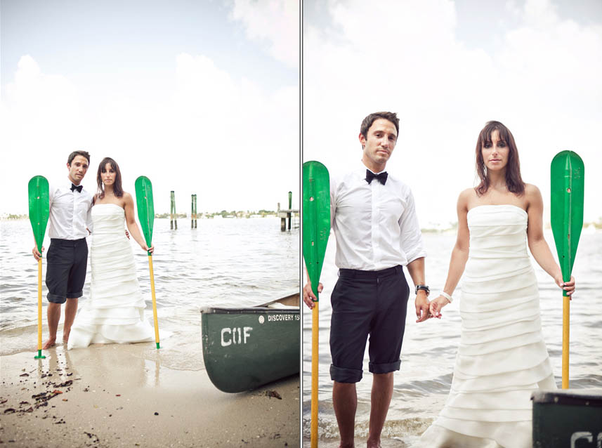 canoe wedding