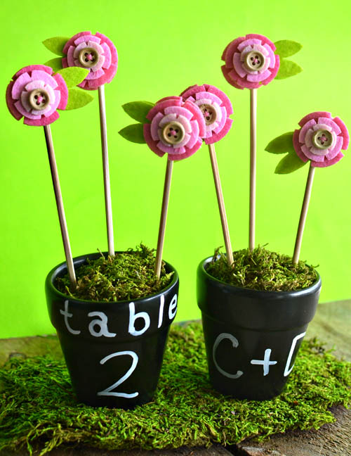 diy flower pot favors