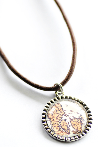 Diy map pendants mozeypictures Choice Image