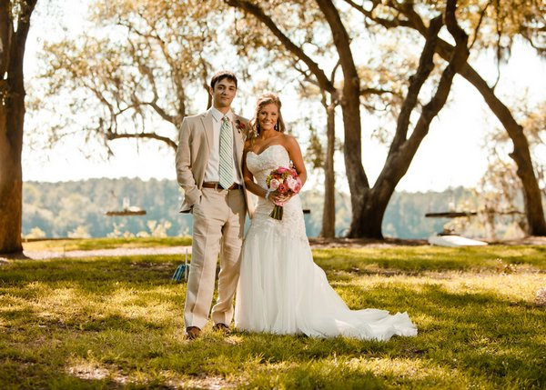 South Carolina bride and groom portrait