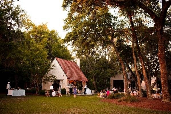 outdoor South Carolina wedding reception