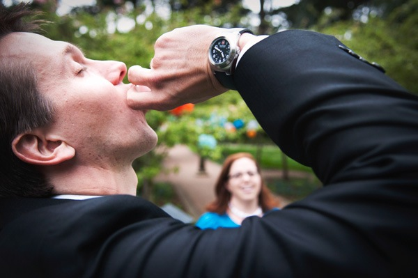 groom taking a shot