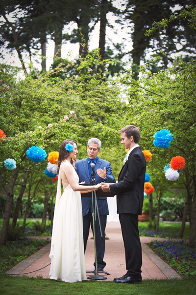 wedding ceremony in Shakespeare garden