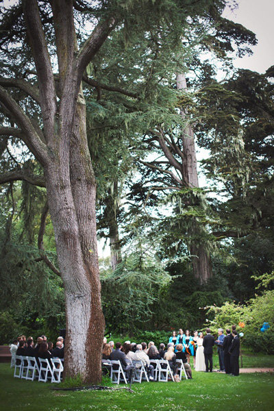 Golden Gate Park wedding ceremony