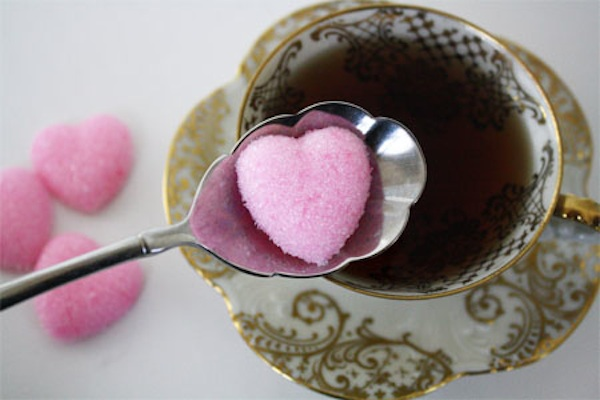 ... out this tutoria l on how to make your own heart-shaped sugar cubes