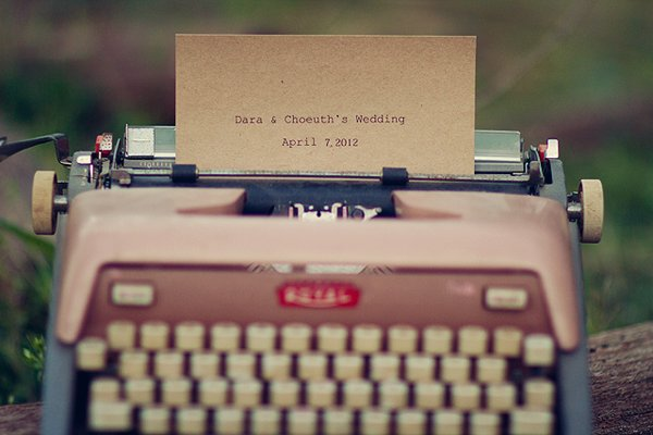 typewriter guest book