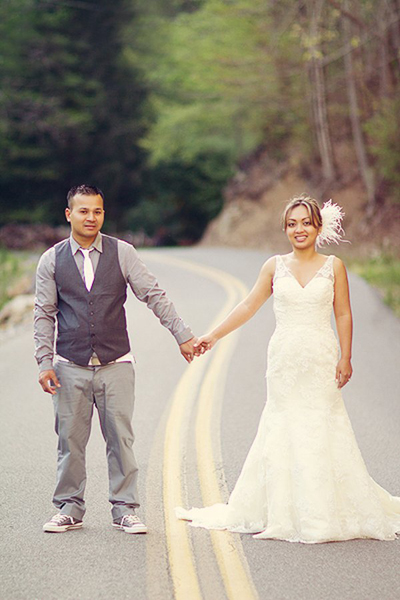 intimate smokey mountain wedding