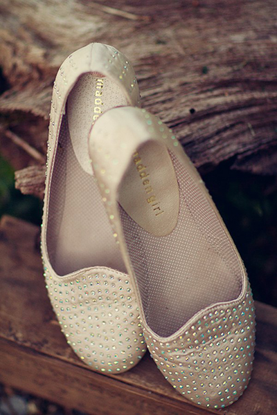 rhinestone studded wedding shoes